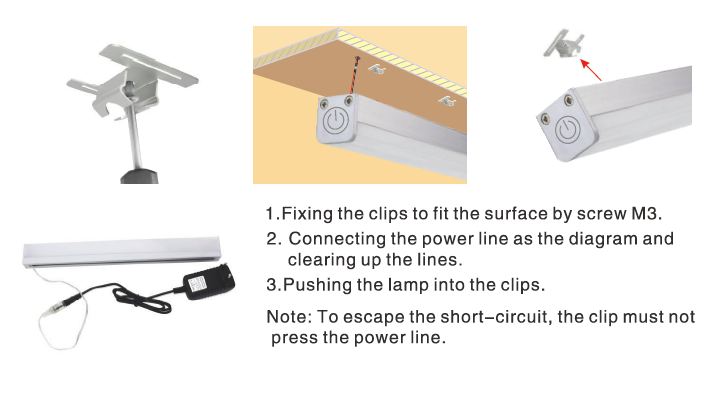 Led lighting touch control led strip light 1911g touch led strip 1911g install mozeypictures Gallery
